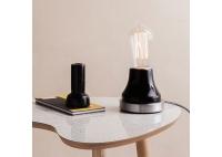 Lampka Lumica: Czarna Ceramika i Stal