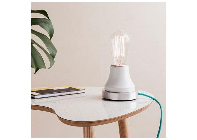 Lumica Lamp: White & Aluminium