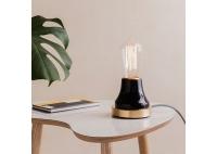 Lampka Lumica: Czarna Ceramika i Mosiądz