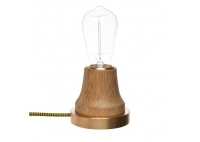 Lampka Lumica: Drewno i Mosiądz