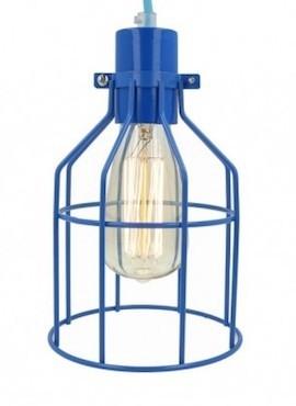 Lampa z klatką niebieską A