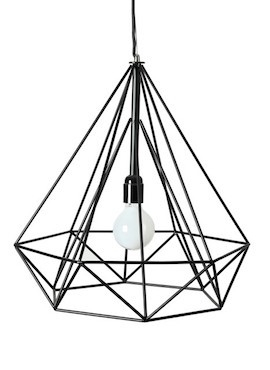 Black Milk Diamond Cage Lamp