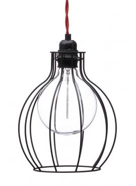 Lampa z klatką W2 - Czarna