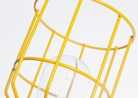 Lampa z klatką żółtą