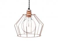 Lampa z klatką W1 - Miedź