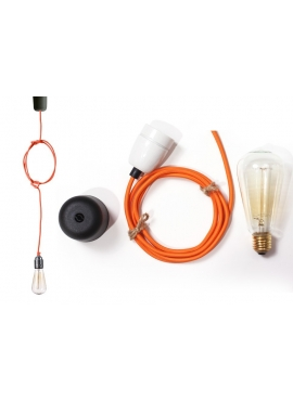 Lampa sufitowa ByLight kabel pomarańczowy