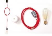Lampa ByLight kabel czerwony