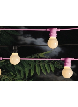 Bellavista Outdoor Festoon Lights Pink