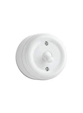 Włącznik dźwigniowy biały NT