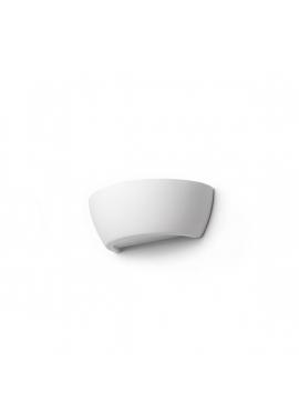 Half Shell with Glass Bottom Wall Lamp
