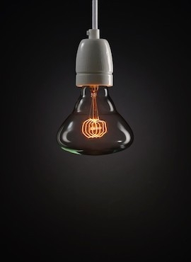 Flat Twist Decorative Light Bulb