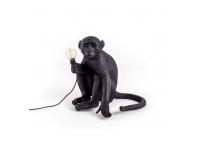Monkey Lamp Black - sitting