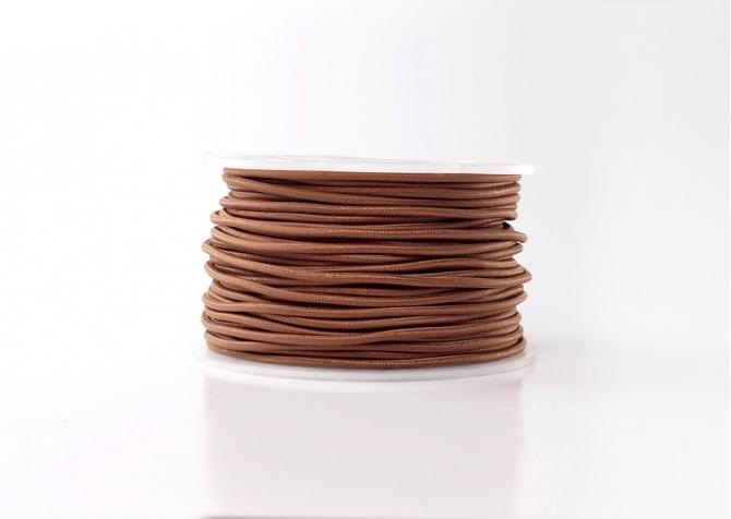 Kabel brązowy metalizowany