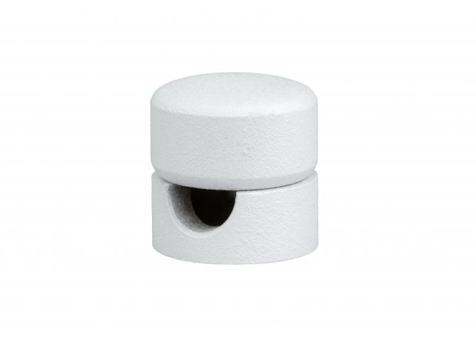 Uchwyt kablowy stalowy biały