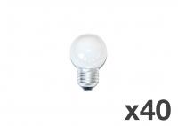 Set of 40 lightbulbs for festoon lights