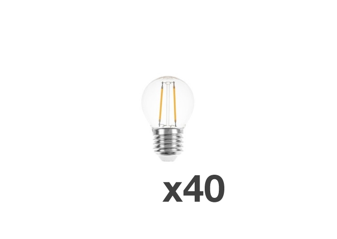 Set of 40 lightbulbs for festoon lights
