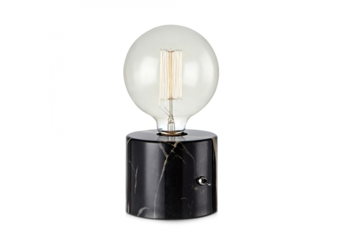 Round Black Table Lamp