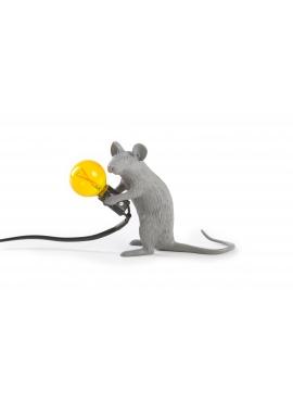 Lampa Biurkowa - Siedząca Mysz Szara