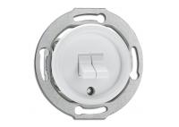 Włącznik dźwigniowy podwójny do ramki szklanej THPG PT biały