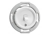Włącznik dźwigniowy THPG PT bakelitowy do ramki szklanej biały