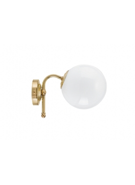 Wall Loft Lamp Big Milk Brass