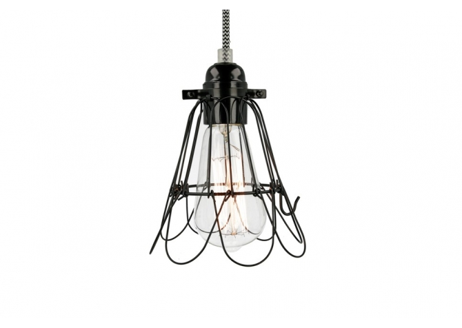Black Milk Diamond Cage Lamp